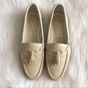 SALVATORE FERRAGAMO Men's Tassel Leather Loafers
